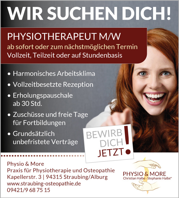 Physiotherapeut m/w/d in Straubing